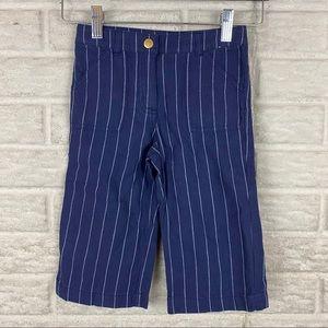 Janie And Jack Boy Pants Size 3 Linen Blue Striped